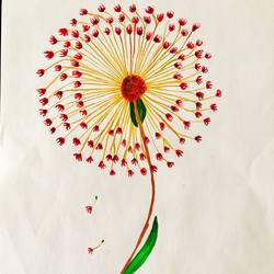 dandelion , 7 x 10 inch, shradha mohan,flower paintings,paintings for dining room,paintings for living room,paintings for bedroom,paintings for office,paintings for bathroom,paintings for kids room,paintings for hotel,paintings for kitchen,paintings for school,paintings for hospital,thick paper,watercolor,7x10inch,GAL0972619503