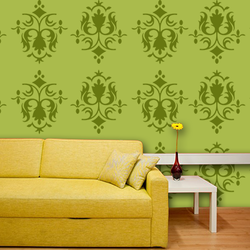 wall stencil: glossy trading wall stencil design , 1 stencil (size 12x12 inches) | reusable | diy, 12 x 12 inch, wall stencil designs,12x12inch,ohp plastic sheets,flower designs,plastic,GAL0119534,GAL0119534