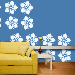 wall stencil: glossy beautiful flower wall design stencils, 1 stencil (size 12x12 inches) | reusable | diy, 12 x 12 inch, wall stencil designs,12x12inch,ohp plastic sheets,flower designs,plastic,GAL0119535,GAL0119535
