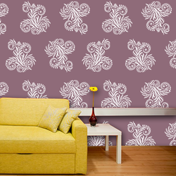 wall stencil: fabulous wall design stencil , 1 stencil (size 12x12 inches) | reusable | diy, 12 x 12 inch, wall stencil designs,12x12inch,ohp plastic sheets,flower designs,plastic,GAL0119537,GAL0119537