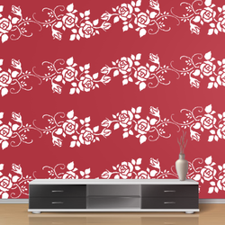 wall stencil: beautiful design wall stencils, 1 stencil (size 12x12 inches) | reusable | diy, 12 x 12 inch, wall stencil designs,12x12inch,ohp plastic sheets,flower designs,plastic,GAL0119538,GAL0119538