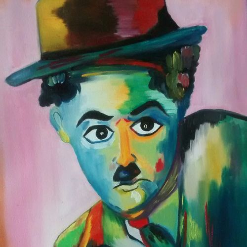 comedy king, 14 x 16 inch, nidhi srivastava,paintings,portrait paintings,paintings for dining room,paintings for living room,paintings for hotel,canvas,oil,14x16inch,GAL0964919543