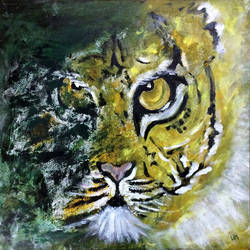 endangered, 24 x 24 inch, lilly dsouza,paintings,figurative paintings,abstract expressionist paintings,paintings for living room,paintings for office,paintings for hotel,canvas,acrylic color,24x24inch,GAL0975819549