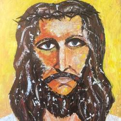 jesus, 24 x 36 inch, lilly dsouza,paintings,religious paintings,canvas,acrylic color,24x36inch,GAL0975819551