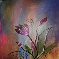 flower painting, 12 x 16 inch, sony rai,paintings,canvas,acrylic color,12x16inch,GAL0972219593