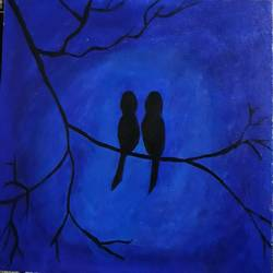 love birds, 16 x 20 inch, sony rai,paintings,love paintings,paintings for living room,canvas,acrylic color,16x20inch,GAL0972219594heart,family,caring,happiness,forever,happy,trust,passion,romance,sweet,kiss,love,hugs,warm,fun,kisses,joy,friendship,marriage,chocolate,husband,wife,forever,caring,couple,sweetheart