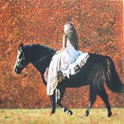 beautiful woman , 29 x 22 inch, vishal gurjar,figurative paintings,horse paintings,paintings for bedroom,paintings for office,paintings for hotel,paintings for school,canvas,acrylic color,oil,29x22inch