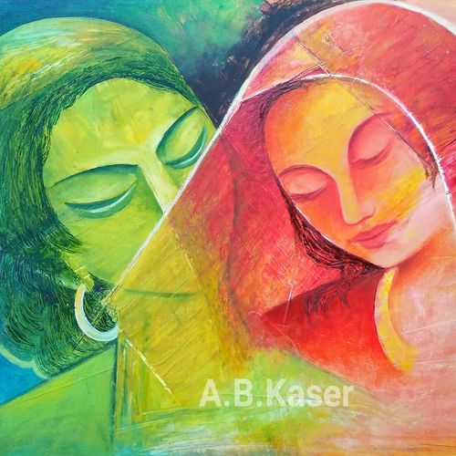 untitled, 20 x 14 inch, a.b.  kaser,figurative paintings,paintings for bedroom,love paintings,horizontal,thick paper,oil paint,20x14inch,GAL06361968heart,family,caring,happiness,forever,happy,trust,passion,romance,sweet,kiss,love,hugs,warm,fun,kisses,joy,friendship,marriage,chocolate,husband,wife,forever,caring,couple,sweetheart