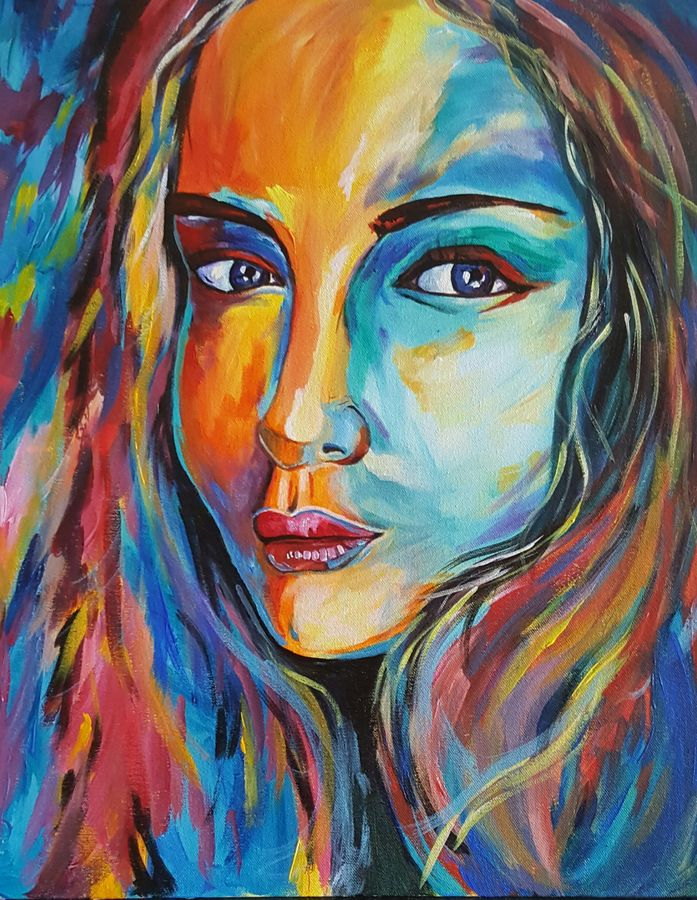 true colors, 16 x 20 inch, amaey parekh,figurative paintings,paintings for bedroom,canvas,acrylic color,16x20inch,GAL075197
