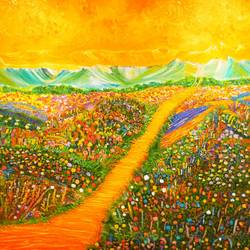chromatic, 42 x 32 inch, shruthi rajagopalan,landscape paintings,paintings for living room,flower paintings,paintings for dining room,paintings for bedroom,paintings for office,paintings for kids room,paintings for hotel,paintings for kitchen,paintings for school,paintings for hospital,canvas,oil paint,42x32inch,GAL07761970