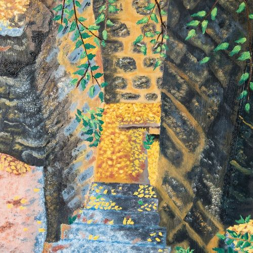 steps to my world, 24 x 36 inch, smita chatterjee,paintings,landscape paintings,nature paintings,paintings for living room,paintings for bedroom,paintings for living room,paintings for bedroom,canvas,oil,24x36inch,GAL0985619710Nature,environment,Beauty,scenery,greenery