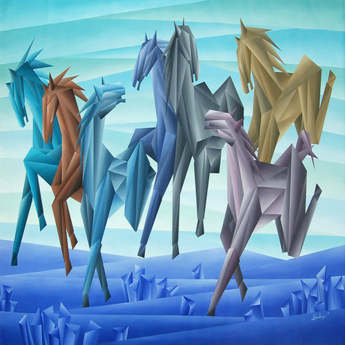 unit of horses, 96 x 48 inch, nidhi gupta,paintings,wildlife paintings,nature paintings,abstract expressionist paintings,contemporary paintings,paintings for dining room,paintings for living room,paintings for office,paintings for hotel,paintings for dining room,paintings for living room,paintings for office,paintings for hotel,canvas,acrylic color,96x48inch,GAL0988319764Nature,environment,Beauty,scenery,greenery