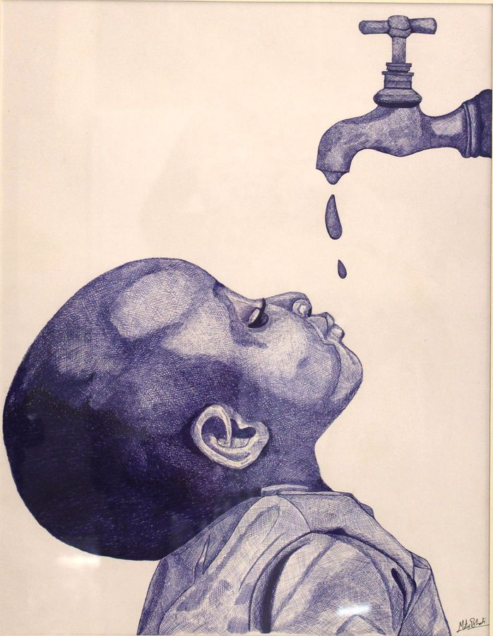 water is a basic human right, 13 x 21 inch, vishal gurjar,baby paintings,kids paintings,paintings for office,paintings for kids room,paintings for hotel,paintings for school,paintings for hospital,paper,pen color,13x21inch