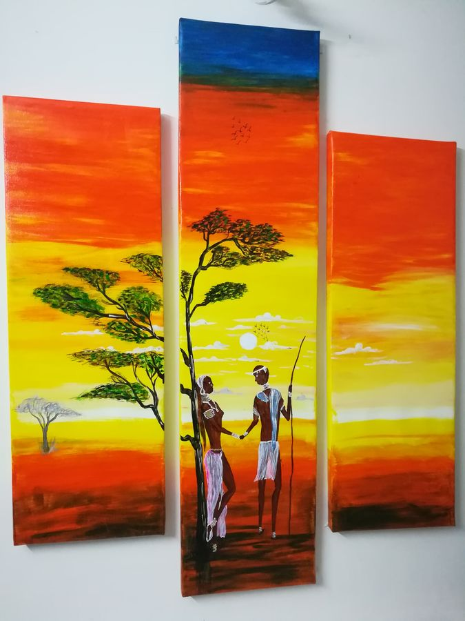 3 piece nature abstract, 48 x 48 inch, priyavrath dakua,abstract paintings,folk art paintings,modern art paintings,nature paintings,love paintings,paintings for living room,paintings for bedroom,paintings for office,paintings for hotel,multi piece paintings,canvas,acrylic color,mixed media,oil,poster color,48x48inch,GAL0955919790heart,family,caring,happiness,forever,happy,trust,passion,romance,sweet,kiss,love,hugs,warm,fun,kisses,joy,friendship,marriage,chocolate,husband,wife,forever,caring,couple,sweetheartNature,environment,Beauty,scenery,greenery