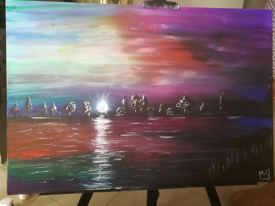 night scenary, 24 x 18 inch, priyavrath dakua,abstract paintings,landscape paintings,nature paintings,paintings for dining room,paintings for living room,paintings for office,paintings for dining room,paintings for living room,paintings for office,canvas,acrylic color,mixed media,oil,poster color,watercolor,24x18inch,GAL0955919793Nature,environment,Beauty,scenery,greenery
