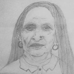 portrait of old woman, 12 x 18 inch, rohan yadav,drawings,portrait drawings,ivory sheet,pencil color,12x18inch,GAL0974219799