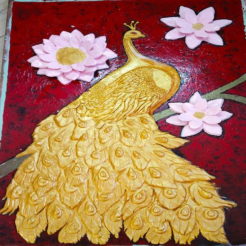 3d clay golden peacock, 72 x 48 inch, budi sadhana,paintings,nature paintings,art deco paintings,paintings for dining room,paintings for living room,paintings for bedroom,paintings for office,paintings for kids room,paintings for hotel,paintings for kitchen,paintings for school,paintings for hospital,paintings for dining room,paintings for living room,paintings for bedroom,paintings for office,paintings for kids room,paintings for hotel,paintings for kitchen,paintings for school,paintings for hospital,ply board,acrylic color,enamel color,oil,72x48inch,GAL0555119812Nature,environment,Beauty,scenery,greenery