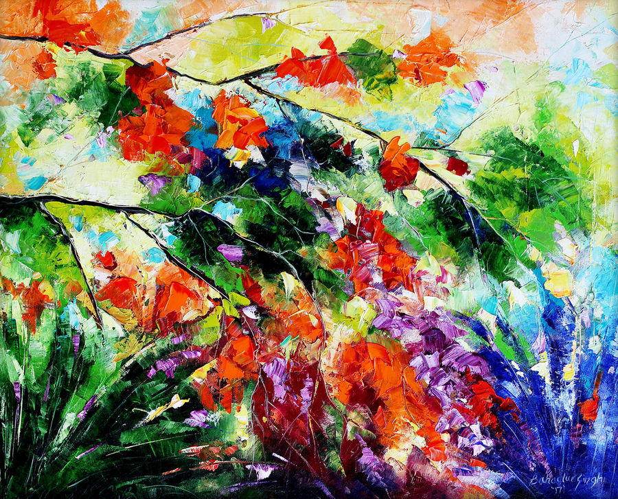 nature once again i, 22 x 20 inch, bahadur singh,abstract paintings,figurative paintings,landscape paintings,modern art paintings,nature paintings,paintings for dining room,paintings for living room,paintings for bedroom,paintings for office,paintings for bathroom,paintings for kids room,paintings for hotel,paintings for kitchen,paintings for school,paintings for hospital,canvas,oil,22x20inch,GAL0635119819Nature,environment,Beauty,scenery,greenery
