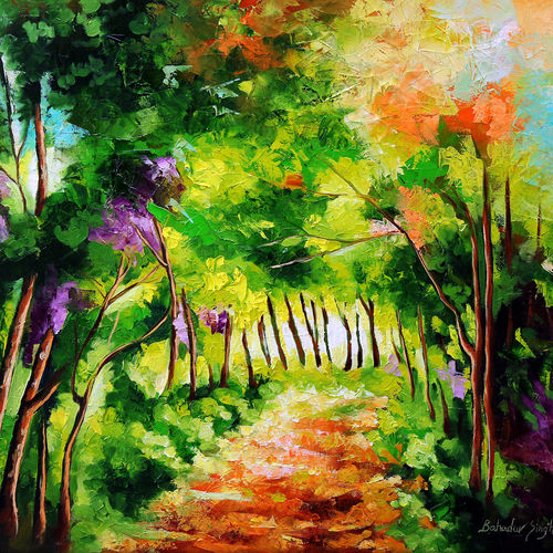 path through change iii, 22 x 20 inch, bahadur singh,abstract paintings,figurative paintings,modern art paintings,nature paintings,paintings for dining room,paintings for living room,paintings for bedroom,paintings for office,paintings for bathroom,paintings for kids room,paintings for hotel,paintings for kitchen,paintings for school,paintings for hospital,canvas,oil,22x20inch,GAL0635119820Nature,environment,Beauty,scenery,greenery