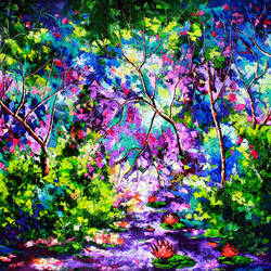 the purple way i, 72 x 48 inch, bahadur singh,abstract paintings,figurative paintings,nature paintings,abstract expressionist paintings,art deco paintings,paintings for dining room,paintings for living room,paintings for bedroom,paintings for office,paintings for bathroom,paintings for kids room,paintings for hotel,paintings for kitchen,paintings for school,paintings for hospital,canvas,oil,72x48inch,GAL0635119825Nature,environment,Beauty,scenery,greenery,tree,flower,colourful