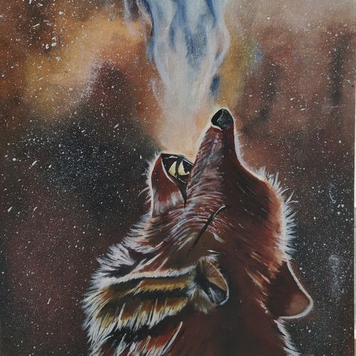restless spirit, 18 x 24 inch, gagandeep kaur,paintings,modern art paintings,animal paintings,paintings for living room,paintings for bedroom,paintings for office,paintings for hotel,canvas board,acrylic color,fabric,18x24inch,GAL0994019860