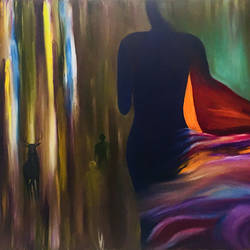 world of vision, 36 x 24 inch, rajesh sharma,paintings,abstract paintings,paintings for living room,paintings for hotel,canvas,oil,36x24inch,GAL050819885