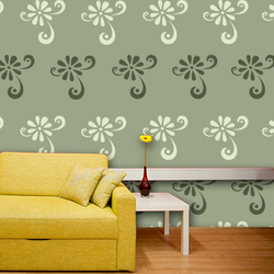 wall stencil: royal design wall stencil , 1 stencil (size 12x12 inches) | reusable | diy, 12 x 12 inch, wall stencil designs,12x12inch,ohp plastic sheets,flower designs,plastic,GAL0119904,GAL0119904