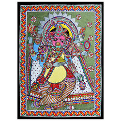 lord ganesha exclusive madhubani painting (line painting) on hand made paper, 20 x 24 inch, pratibha kiran,paintings,folk art paintings,ganesha paintings,madhubani paintings,paintings for dining room,paintings for living room,paintings for bedroom,paintings for office,paintings for kids room,paintings for hotel,paintings for school,handmade paper,acrylic color,20x24inch,GAL0639519914,vinayak,ekadanta,ganpati,lambodar,peace,devotion,religious,lord ganesha,lordganpati,ganpati bappa morya,ganesh chaturthi,ganesh murti,elephant god,religious,lord ganesh,ganesha,om,hindu god,shiv parvati, putra,bhakti,blessings,aashirwad,pooja,puja,aarti,ekdant,vakratunda,lambodara,bhalchandra,gajanan,vinayak,prathamesh,vignesh,heramba,siddhivinayak,mahaganpati,omkar,mushak,mouse,ladoo,modak,shlok
