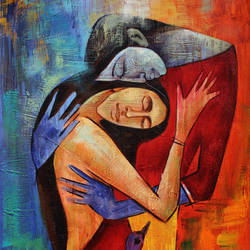 fascinated love, 24 x 36 inch, achal  art studio,paintings,figurative paintings,paintings for bedroom,canvas,acrylic color,24x36inch,GAL0991219925