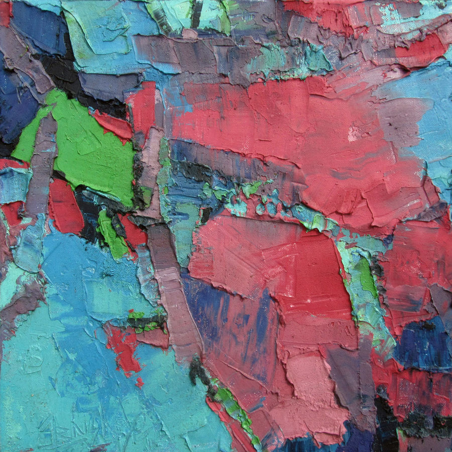 innocent pink, 15 x 15 inch, abhishek kumar,abstract paintings,paintings for living room,canvas,oil paint,15x15inch,GAL07871995