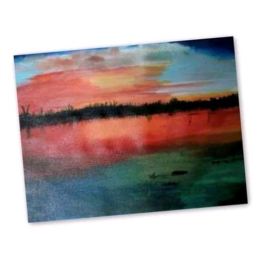 landscape, 16 x 12 inch, suparna shenoy,paintings,landscape paintings,canvas,acrylic color,16x12inch,GAL0999819951