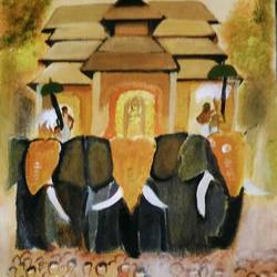 procession, 10 x 12 inch, suparna shenoy,paintings,abstract paintings,conceptual paintings,canvas,acrylic color,10x12inch,GAL0999819952