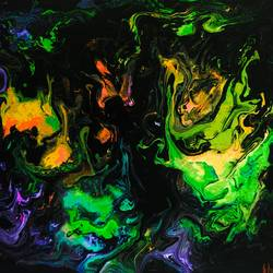 firefly , 9 x 12 inch, shaakshi shaakshi,paintings,abstract paintings,hardboard,acrylic color,9x12inch,GAL0957919968