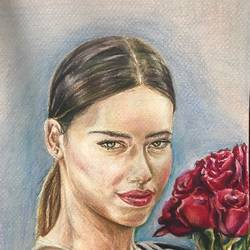 adriana i, 9 x 12 inch, vineetha  j.malayil ,drawings,figurative drawings,photorealism drawings,portrait drawings,realism drawings,paintings for dining room,paintings for living room,paintings for office,paintings for hotel,canson paper,pencil color,9x12inch,GAL0201719989