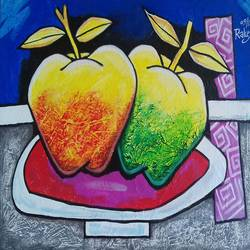 new apples , 30 x 22 inch, rakesh  verma ,paintings,modern art paintings,canvas board,acrylic color,30x22inch,GAL0998920018