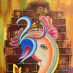 ganpati, 36 x 24 inch, sucharita nath,paintings,religious paintings,ganesha paintings,paintings for dining room,paintings for living room,paintings for bedroom,paintings for office,paintings for kids room,paintings for hotel,paintings for school,paintings for hospital,paintings for dining room,paintings for living room,paintings for bedroom,paintings for office,paintings for kids room,paintings for hotel,paintings for school,paintings for hospital,canvas,acrylic color,36x24inch,GAL0985020021,vinayak,ekadanta,ganpati,lambodar,peace,devotion,religious,lord ganesha,lordganpati,ganpati bappa morya,ganesh chaturthi,ganesh murti,elephant god,religious,lord ganesh,ganesha,om,hindu god,shiv parvati, putra,bhakti,blessings,aashirwad,pooja,puja,aarti,ekdant,vakratunda,lambodara,bhalchandra,gajanan,vinayak,prathamesh,vignesh,heramba,siddhivinayak,mahaganpati,omkar,mushak,mouse,ladoo,modak,shlok