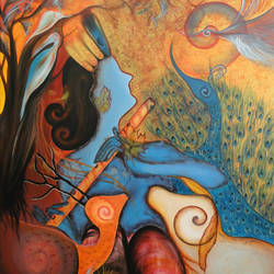 shri krishna 6, 47 x 59 inch, shivani mathur,paintings,figurative paintings,modern art paintings,religious paintings,radha krishna paintings,contemporary paintings,paintings for dining room,paintings for living room,paintings for bedroom,paintings for hotel,paintings for hospital,paintings for dining room,paintings for living room,paintings for bedroom,paintings for hotel,paintings for hospital,canvas,acrylic color,47x59inch,GAL0982720023,radhakrishna,love,pece,lordkrishna,,lordradha,peace,flute,music,radha,krishna,devotion,couple