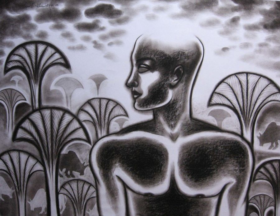 man in the wood, 28 x 22 inch, sunil chawdiker,paintings for living room,paintings for school,conceptual drawings,figurative drawings,portrait drawings,paintings for dining room,paintings for bedroom,paintings for office,paintings for bathroom,paintings for kids room,paintings for hotel,paintings for kitchen,paintings for hospital,paintings for living room,paintings for school,ivory sheet,acrylic color,28x22inch,GAL0987320042