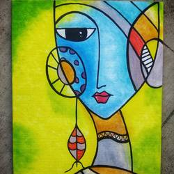 sad eyes , 12 x 16 inch, robin  taide ,paintings,abstract paintings,canvas,acrylic color,12x16inch,GAL01003920055