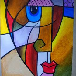 watching you , 12 x 16 inch, robin  taide ,paintings,abstract paintings,canvas,acrylic color,12x16inch,GAL01003920059
