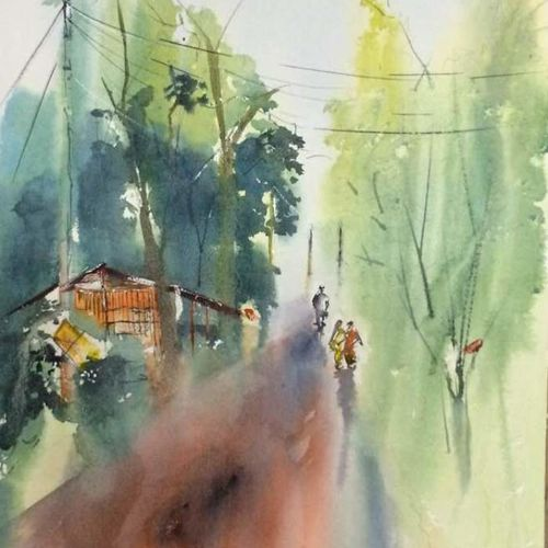 original handpainted watercolor art for gift, 17 x 25 inch, dipankar  biswas,paintings,landscape paintings,nature paintings,paintings for dining room,paintings for living room,paintings for bedroom,paintings for office,paintings for bathroom,paintings for hotel,paintings for school,paintings for hospital,handmade paper,watercolor,17x25inch,GAL0293220061Nature,environment,Beauty,scenery,greenery