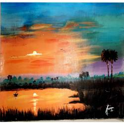 sunset , 50 x 30 inch, narayan tanawade,paintings,landscape paintings,paintings for dining room,paintings for living room,paintings for bedroom,paintings for office,paintings for bathroom,paintings for kids room,paintings for hotel,paintings for kitchen,paintings for school,paintings for hospital,canvas,acrylic color,50x30inch,GAL01012520073