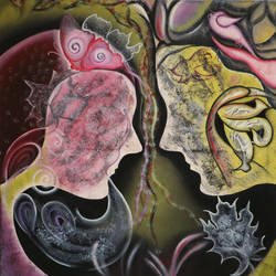 adam & eve 6 , 30 x 30 inch, shivani mathur,paintings,wildlife paintings,figurative paintings,flower paintings,modern art paintings,art deco paintings,contemporary paintings,love paintings,paintings for dining room,paintings for living room,paintings for bedroom,paintings for hotel,paintings for hospital,canvas,acrylic color,mixed media,oil,30x30inch,GAL0982720094heart,family,caring,happiness,forever,happy,trust,passion,romance,sweet,kiss,love,hugs,warm,fun,kisses,joy,friendship,marriage,chocolate,husband,wife,forever,caring,couple,sweetheart