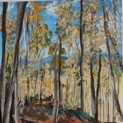 nature forest, 24 x 24 inch, shanthi srinivasan,paintings,nature paintings,paintings for living room,canvas,acrylic color,24x24inch,GAL01006020128Nature,environment,Beauty,scenery,greenery