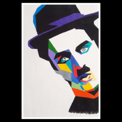 charlie chaplin pop art, 9 x 13 inch, khushbu kalaria,paintings,pop art paintings,portraiture,paintings for bedroom,paintings for kids room,paintings for bedroom,paintings for kids room,canvas,acrylic color,9x13inch,GAL01017020147