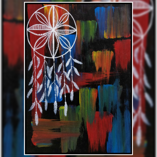 dream catcher abstract art, 11 x 15 inch, khushbu kalaria,paintings,abstract paintings,modern art paintings,conceptual paintings,abstract expressionist paintings,art deco paintings,illustration paintings,paintings for dining room,paintings for living room,paintings for bedroom,paintings for office,paintings for kids room,paintings for hotel,paintings for kitchen,paintings for school,paintings for hospital,canvas,acrylic color,11x15inch,GAL01017020159