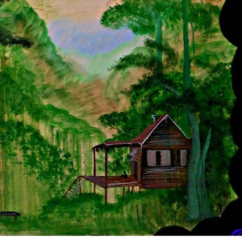 nature peace, 28 x 16 inch, huma sadiya,nature paintings,paintings for office,thick paper,watercolor,28x16inch,GAL05632016Nature,environment,Beauty,scenery,greenery