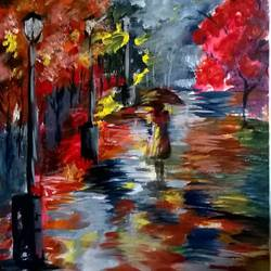lost, 12 x 18 inch, sayantan  ghati ,impressionist paintings,paintings for living room,canvas,acrylic color,12x18inch,GAL07702017
