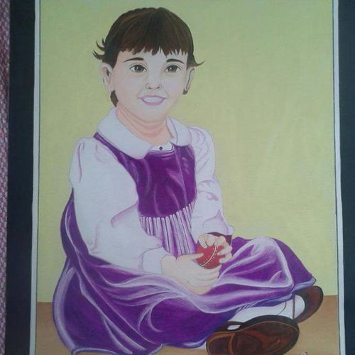 innocence, 12 x 15 inch, priyanka chordiya,paintings,portrait paintings,children paintings,paintings for living room,paintings for bedroom,paintings for office,paintings for kids room,paintings for school,paintings for hospital,hardboard,poster color,12x15inch,GAL0985320178