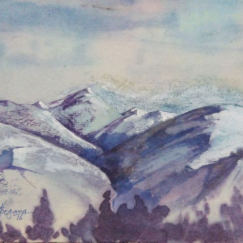himalaya, 11 x 8 inch, sunil begana,landscape paintings,paintings for living room,paper,watercolor,11x8inch,GAL06542018